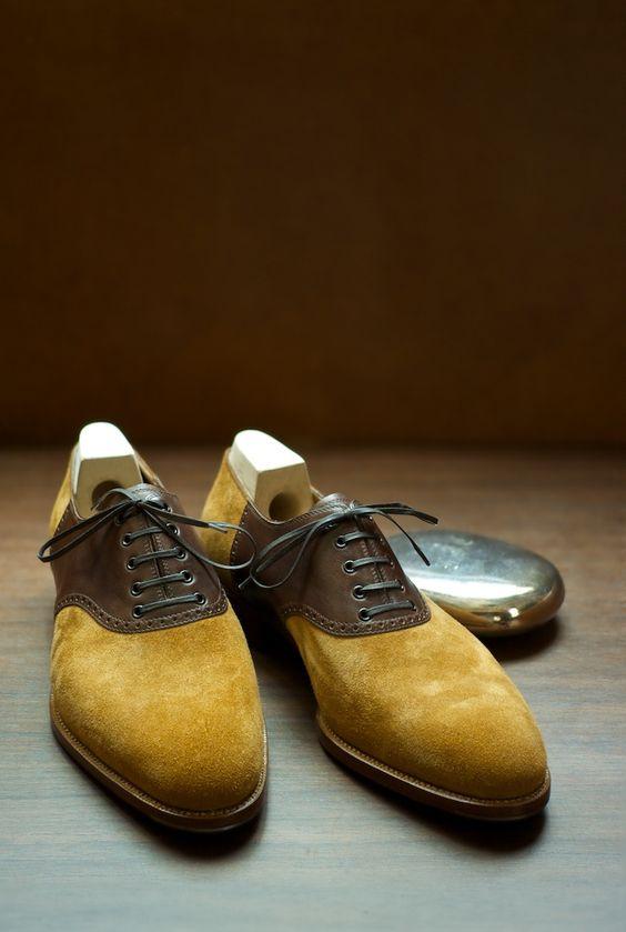 well you knw e I am jot a saddle man I mean saddle shoes but it's Dijon!  Saint Crispin's Saddle