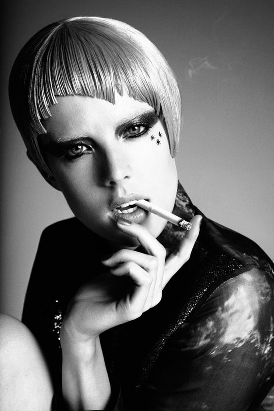 Damon Baker shares an outtake from his recent shoot with Agyness Deyn for Stern Magazine. Ziggy Stardust-esque makeup and hair by Thorstein Weiss and Luke Baker complete the rock and roll look. / Styling by Brett Bailey