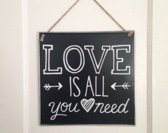 Love chalkboard home decor by Shoes4KingsandQueens on Etsy