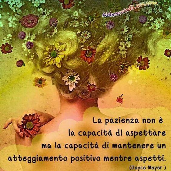 Parole e ispirazione - La pazienza / La paciencia no es la capacidad de esperar, sino la capacidad de mantener una actitud positiva mientras espera.: