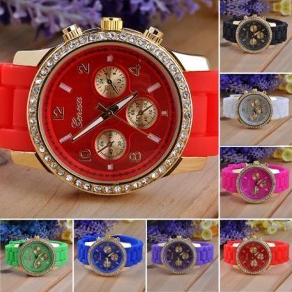 Diamante Wristwatches Ladies Silico..