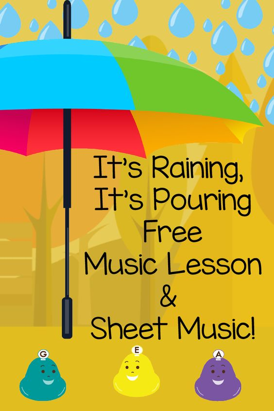 It's raining It's Pouring Free Music Lesson and sheet music! Get the best in music education with this nursery rhyme classic. Don't forget to sign up for the Free Starter Program for even more great resources from preschool prodigies. Https://www.preschoolprodigies.com