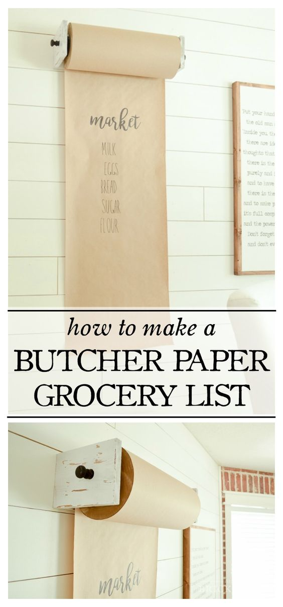 How to Make a Butcher Paper Grocery List