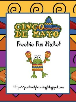 Here's a freebie packet filled with fun literacy and math activities celebrating Cinco de Mayo!