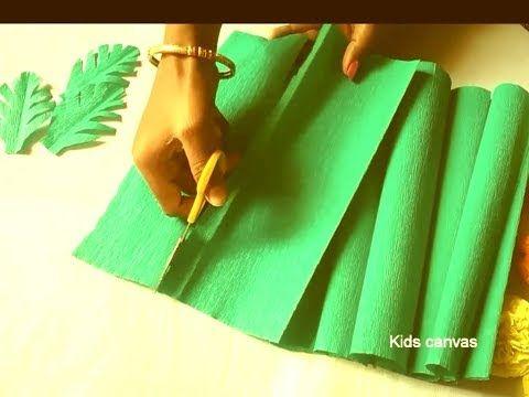 How To Make Leaves From Crepe Paper L Leaf Craft Ideas L Diy Paper Leaf L Green Leaves Making Ideas Youtube In 2020 Crepe Paper Leaf Crafts Paper Leaves