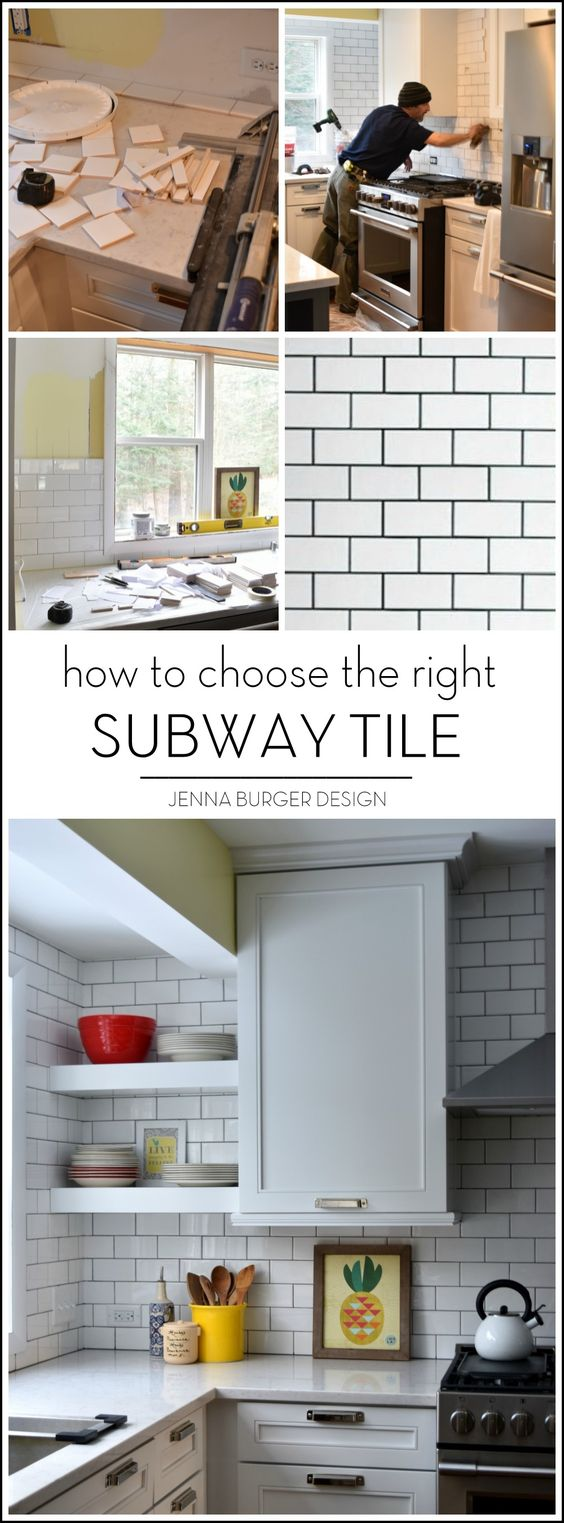 subway tiles  choose the right and the project on pinterest Tile Countertops for Kitchens Wall Tile Bathroom Remodel
