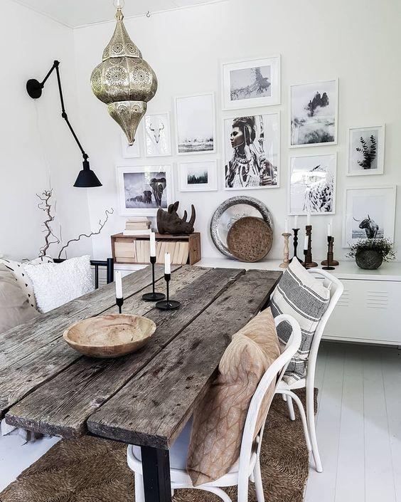 27 Charming Boho Dining Room Design Ideas Molitsy Blog Boho Dining Room Chic Dining Room Bohemian Dining Room