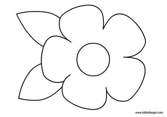 Disegno Fiori Da Colorare Con Google Disegno Di Un Fiore: Disegni Fiori Da Colorare - Cerca Con Google: