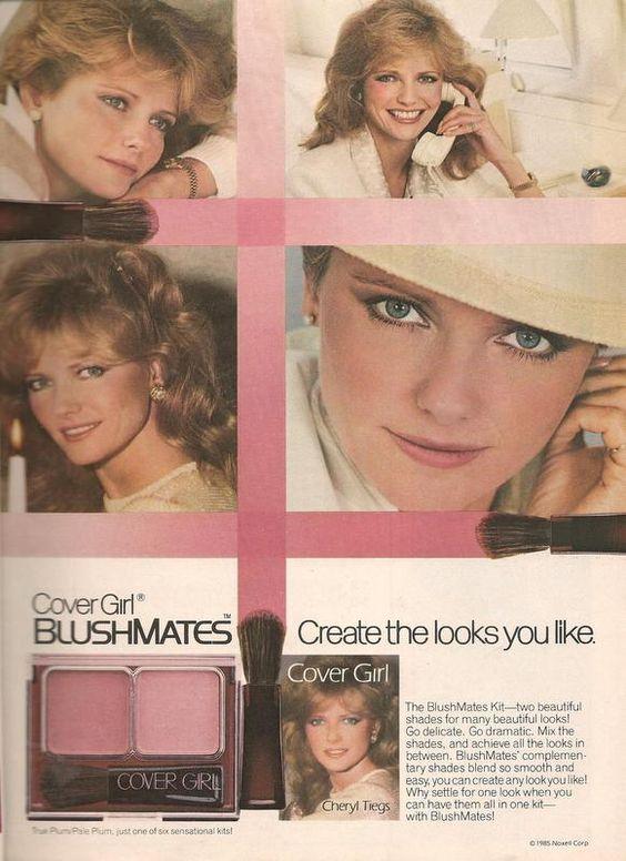 1985 cover girl blushmates blush makeup ad 80s vintage