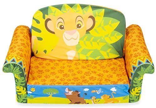 Marshmallow Furniture Children S 2 In 1 Flip Open Foam Sofa Disney S The Lion King By Spin In 2020 Kids Sofa Foam Sofa Lion King Nursery