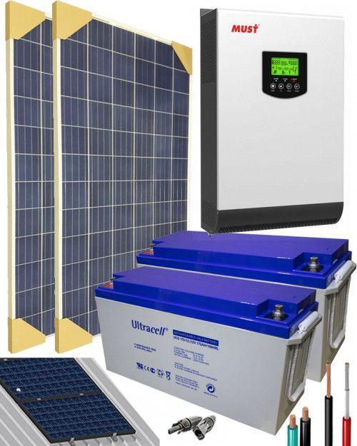Kit Solar Fotovoltaico 3000w 24v 3200whdia Al Mejor Precio Kit Solar Paneles Solares Kit