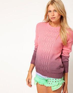 Enlarge ASOS Dip Dye Cable Jumper, aunque dije que ya no iba a comprar más suéteres...