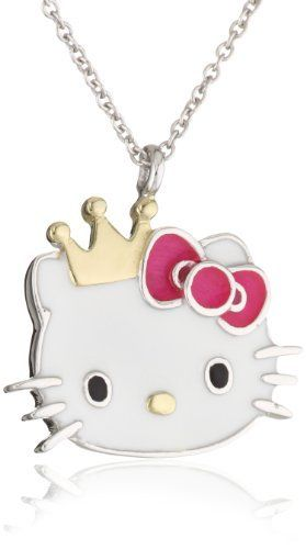 Hello Kitty by Simmons Jewelry Co. Gold Plated Crown and Red Bow Medium Slide Girl's Pendant Necklace Hello Kitty. $119.99. Made in China