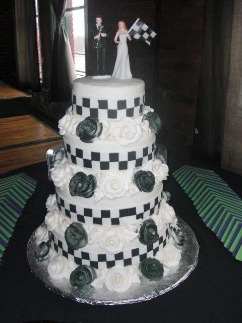 Checkered Flag Wedding Cake Tying The Knot Pinterest