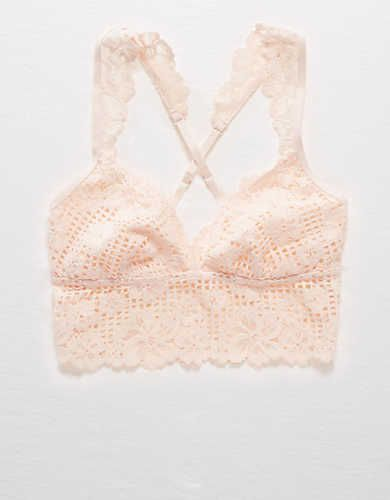 Aerie Lace Longline Bralette, Fair | Aerie for American Eagle