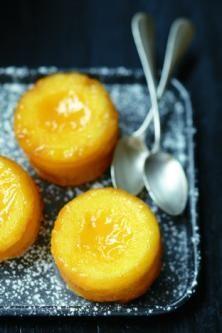 Fondants au citron, cœur de lemon curd:
