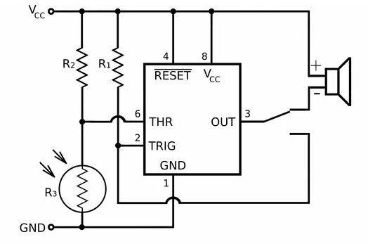 laser  u202a  u200etripwirecircuit u202c is a passive triggering