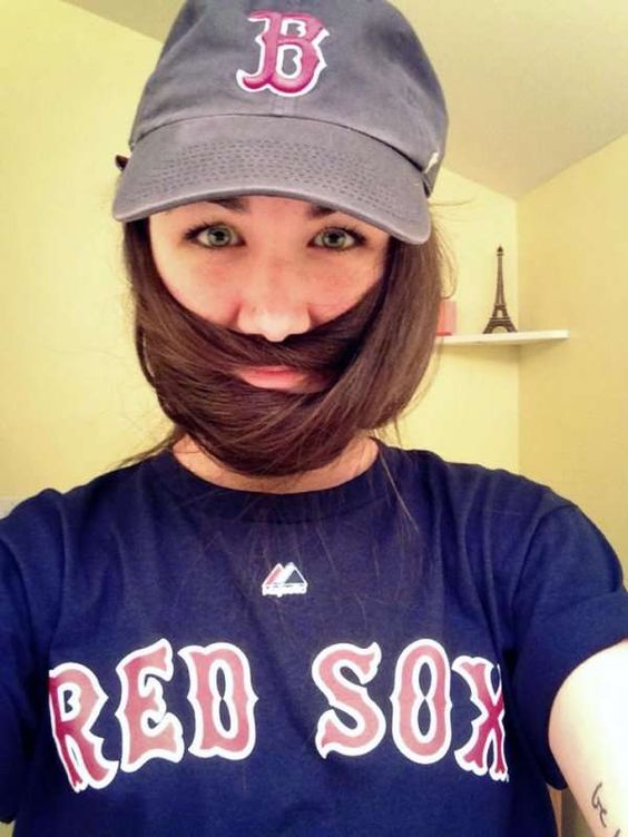 11 Sexy Ladybeards: Beards from Girls' Hair Pulled Over. Hey, Fellas....  If life gets rough they can always run away and join the circus. Haha!!  — 11 Pics  #CheckOutAllPhotos