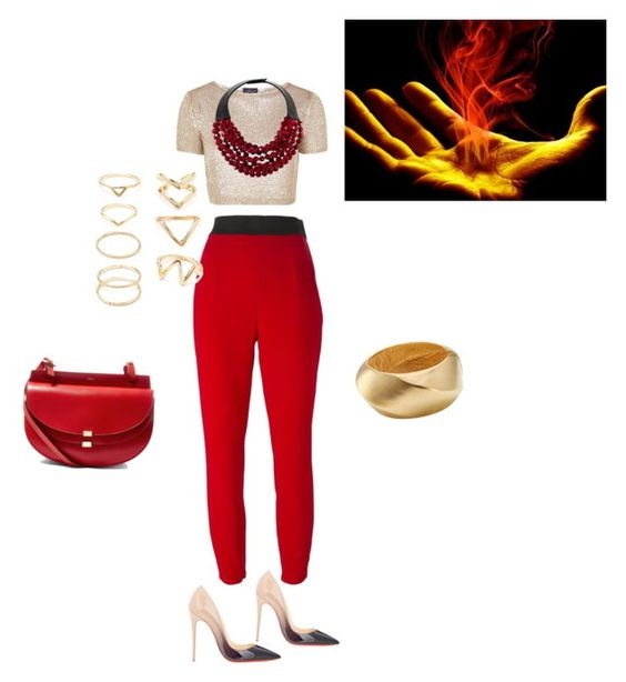 """""""Untitled #123"""" by aylali2483 on Polyvore featuring Topshop, Christian Louboutin, Dolce&Gabbana, Forever 21, Kenneth Jay Lane, Fairchild Baldwin and Chloé"""