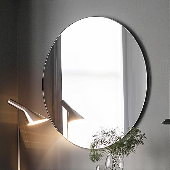 Coralie Round Wall Mirror Black By Castle Road Interiors Zanui Round Wall Mirror Mirror Wall Black Round Mirror