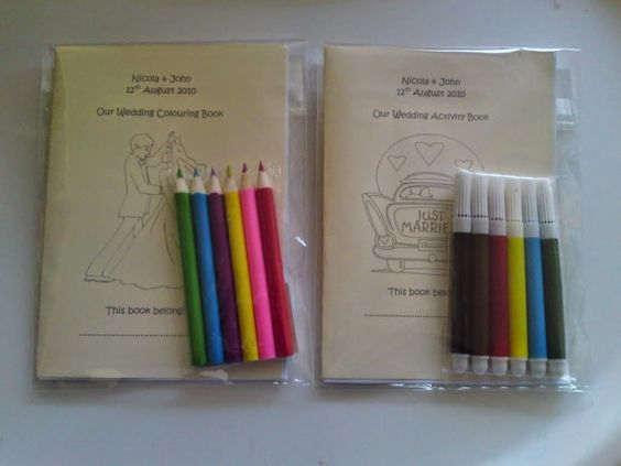5 Creative Ideas for the Morning-After Wedding Brunch - coloring kit for kids