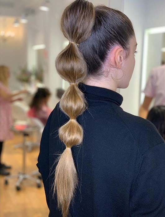 Ponytail Hairstyles Ponytailhairstyles Bubble Ponytail Has Become A Must Have Look For 2020 We Have 23 Amaz Coiffure Coiffures Queues De Cheval Coiffure Swag