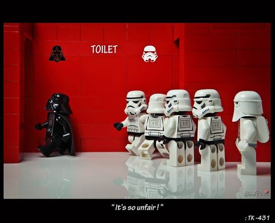 When you're a Sith Lord, one of the perks is your own private bathroom.