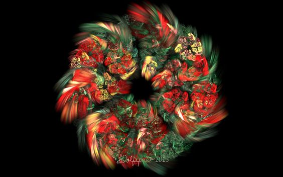 fractal wreath | Creative Commons Attribution-Noncommercial-No Derivative Works 3.0 ...