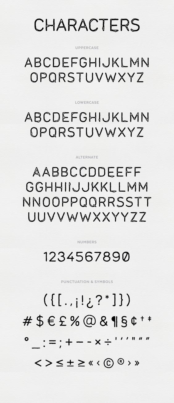 Mara. A grungy sans-serif display typeface created by Sam Jones
