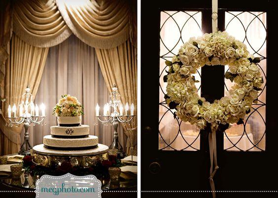 #wedding cake #wreath