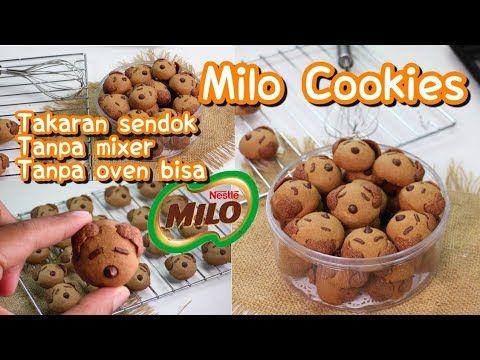 Mudahnya Membuat Milo Cookies Lucu Tanpa Mixer Tanpa Oven Bisa Takaran Sendok Bisa Pakai Oven Youtube Sendok Mixer Oven