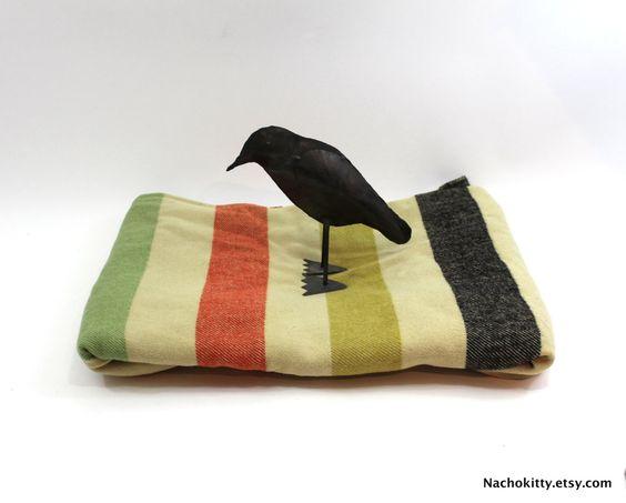 Hudson Bay Wool Blanket Antique Stripes Four Point by Nachokitty, $475.00