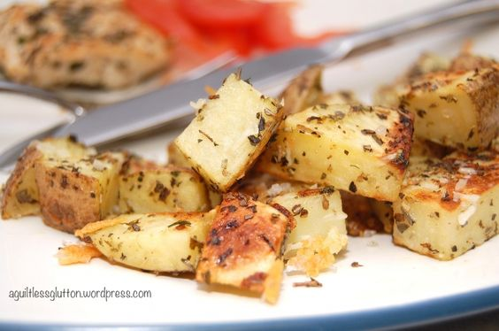 Asiago Roasted Potatoes   Daydream Kitchen Julie, use the Italian blend we talked about! Yum