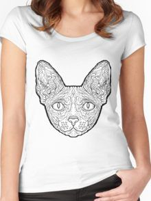 Sphynx Cat - Complicated Cats Women's Fitted Scoop T-Shirt