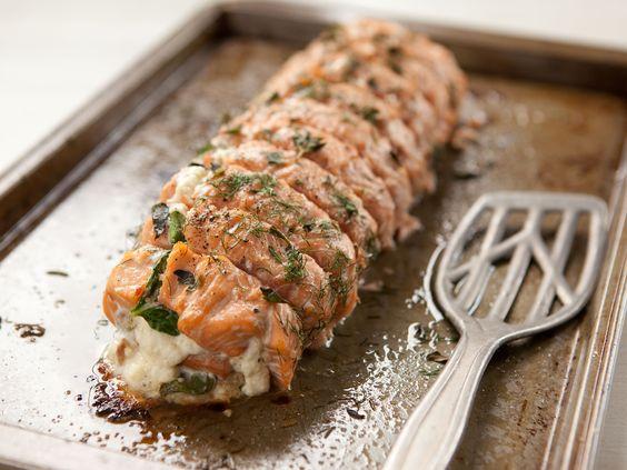 roasted salmon meals spinach recipe mustard salmon stuffed salmon ...