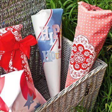 Des pochettes surprise en papier / Dress handkerchiefs paper surprise, party, birthday, presents