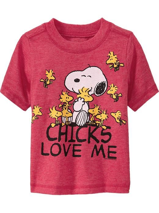 "Snoopy&#174 ""Chicks Love Me"" Tees for Baby"