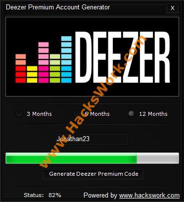 Deezer Cuenta Premium generador   www.HacksWork.com