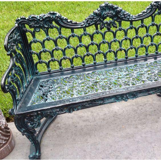 Iron bench. LOVE this!