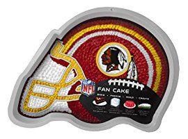 NFL Washington Redskins Fan Cakes Heat Resistant CPET Plastic Cake Pan