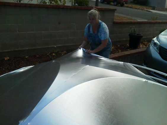Covered the UFO frame work with silver Lame'