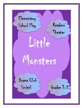 Little Monsters Elementary Halloween Script Drama Club Readers Theater PlayWith 22+ roles, and a running time of approximately 45 minutes, the play is easily adapted to drama club or classroom use, with very small roles for the shy or reluctant readers to challenging starring roles.                                                                                                                                                                                 Plus