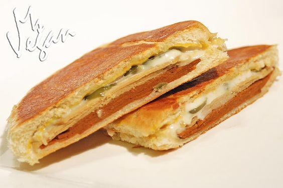 Cuban Sandwich, Vegan Style! #vegan #vegansandwich #vegancuban #cubansandwich #lightlife #daiya