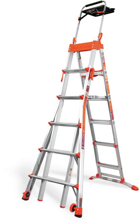 6 ft Aluminum Select Step Step Ladder with 300 lb. Load Capacity