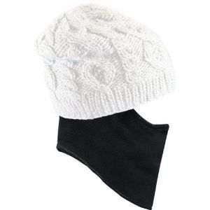 Seirus Innovation Women's Mogwai Quick Clava (White, One Size) by Seirus Innovation. $29.99. Moisture Wicking. Hat: 50% Wool, 50% Acrylic Scarf: 100% Polyester. Comfortable and Stylish. Fleece Lined Band. The Mogwai Quick Clava Hat from Seirus Innovations is a warm, classic beanie style that comes with a built in clava which tucks seamlessly up into the hat when you don't need it, and pulls down for full face and neck coverage when you do.