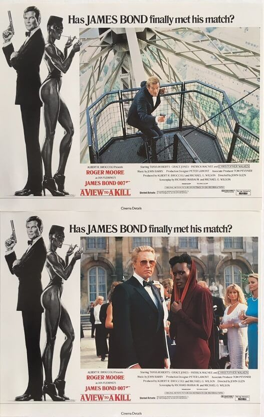 James Bond A View To A Kill Uk Lobby Card Set Available To