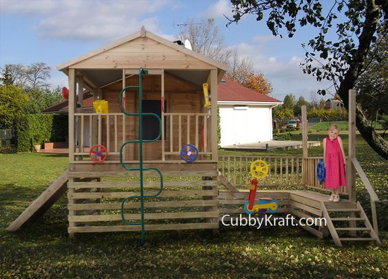 The Newcastle -  This amazing fort comes with all the accessories. $3197.00 for this fort. www.cubbykraft.com.