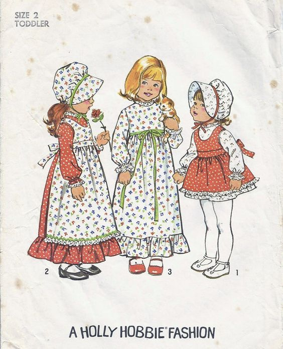 70s Girls Frontier  Dress and Apron Pattern Size 2 by lasavonfemme, $4.75  I wish these came in adult sizes!