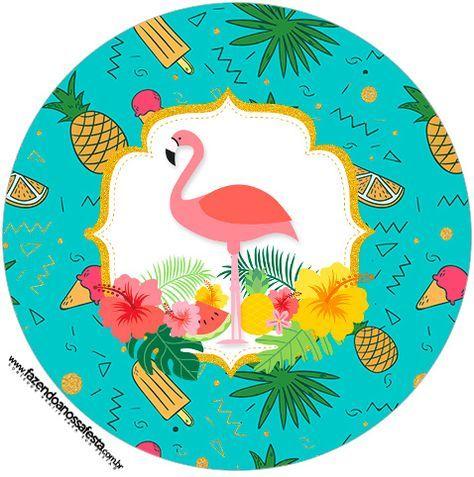 Flamingo Tropical Kit Festa Gratis Para Imprimir Em Casa Festa