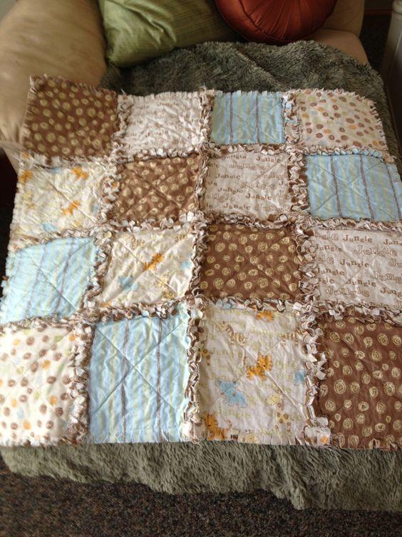 Baby Rag Quilt. $40.00, via Etsy.